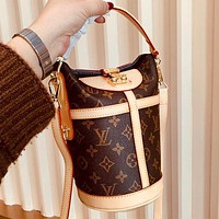 Bunchsun Louis Vuitton LV High Quality New Women Leather Bucket Bag Handbag Tote Crossbody Satchel Shoulder Bag