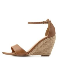 Sand Ankle Strap Espadrille Wedge Sandals by Charlotte Russe