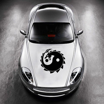 Dragon Taoism Sign Yin and Yang HOOD CAR VINYL STICKER DECALS GRAPHICS SV3669