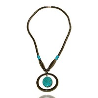 Hematite and Turquoise Short Necklace