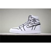 Air Jordan 1 Retro Hand Painted Basketball Shoe 36-46