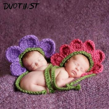 Spring Flowers Newborn Baby Crochet Hat Photography Prop