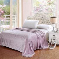 Cozy Home Pinstripe Collection Lavender King Size Ultra Plush Blanket