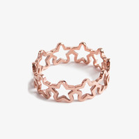 Rolled Star Band Ring