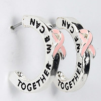 Pink Ribbon Post Breast Cancer Earrings