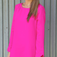 Sure Thing Shift Dress-Pink