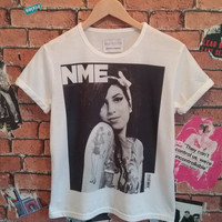 Woman's iconic Amy Winehouse NME cover, iconic, indie, band, fan,t shirt/tee/T-shirt (Men's sizes available)