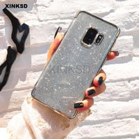 Glitter Bling Silicone Phone Case for Samsung Galaxy A8 A6 J4 J6 J2 Pro 2018 S9 S8 S6 S7 Edge J5 J3 J7 A5 A3 A7 2016 2017 Note 8