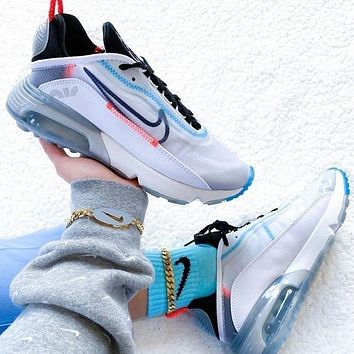 Nike Air Max 2090 New Women Men Fashionable Sport Running Shoes Sneakers White&Grey&Blue