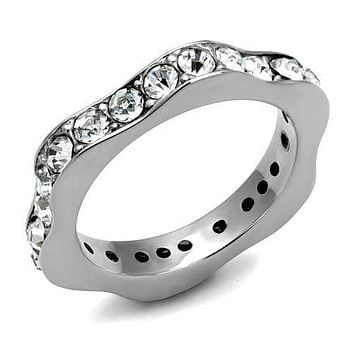 Mens Wedding Rings TK3106 Stainless Steel Ring with Top Grade Crystal