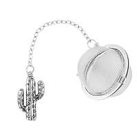 Stainless Steel Tea Ball Infuser with Cactus Charm