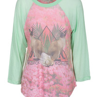 WILDFOX Hamptons Garden Party Mintjulep Jersey-Longsleeve mit Print - What's new