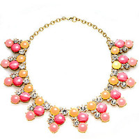 Charter Club Necklace, Gold-Tone Crystal Pink Stone Statement Necklace - All Fashion Jewelry - Jewelry & Watches - Macy's