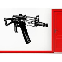 Wall Stickers Vinyl Decal Machine Gun AK-47 Russian Military Army Decor Unique Gift (z2233)