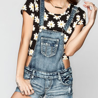 HIPPIE LAUNDRY Roll Cuff Womens Denim Short-alls | Overalls