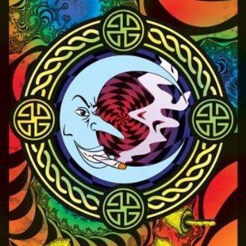 Reefer Moon-Weed-Marijuana, College Blacklight Poster Print, 23 by 35-Inch