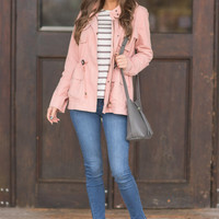 Want You To Know Jacket, Blush