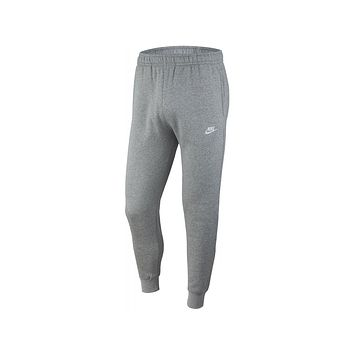 Nike Men's Sportswear NSW Club Fleece Joggers Sweat Pants Dark Grey Heather