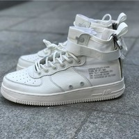 Nike Air Force 1 SF-AF1 Mid  White For Women Men Running Sport Casual Shoes Sneakers