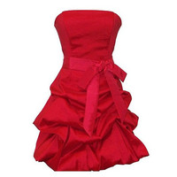 A-line Strapless Sleeveless Short / Mini Taffeta Bridesmaid Dress With Sashes Free Shipping