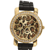 Leopard Printed Rubber Watch | Shop Jewelry at Wet Seal