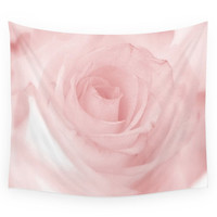 Society6 Pale Pink Rose Wall Tapestry