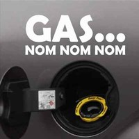 Gas NOM NOM Funny Bumper Sticker Vinyl Decal JDM Muscle Sport Car Truck Diesel