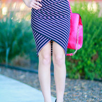 RUNAWAY WITH ME STRIPE SKIRT