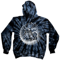 Rick and Morty Bassnectar Tie Dye Pullover Hoodie