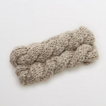 Aerie Cable Ear Warmer, Taupe