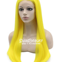 24″ Silky Straight Synthetic Lace Front Wig #3300 – Swag Beauty