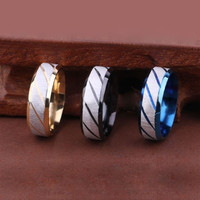 Sanding Surface Titanium Stainless Steel Mens Band Ring 7mm Width = 5617002497