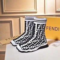 Fendi Sports elastic stocking boots shoes