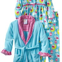 Baby Bunz Little Girls'  Cow Over The Moon 3 Piece  Pajama Set