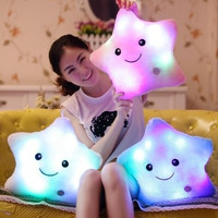 HOT Colorful LED stars, LED Light Pillow,plush pillow, Christmas Toys For Kids = 1946682756