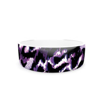 "Ebi Emporium ""Wild at Heart - Purple"" Lavender Pet Bowl"