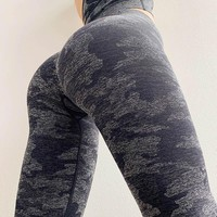Women New Camo Seamless Leggings High Waisted Women Sports Leggings Camouflage Fitness Pants Girl Sport Leggings