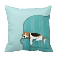 Happy Couch Dog - Cute Beagle Relaxing
