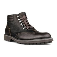 ZLYC Men Fashion British Style High Top Leather Lace Up Mid Calf Work Boots