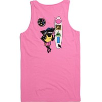 Maui & Sons Arnold Sharkley Tank Top - Mens Tee - Pink