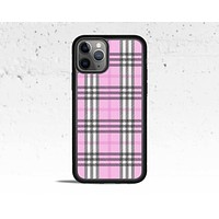 Pink Plaid Phone Case for Apple iPhone
