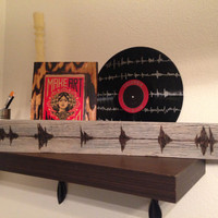 Your Voice On Barn Wood Customized To Any Audio That I Turn Into Sound Waves on a 4'' x 20'' Recycled Barnwood