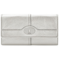 Fossil Marlow Leather Flap Clutch Wallet