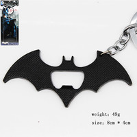 Avengers Super Heros Batman Bottle Opener Metal Keychain Pendant Key Chain Chaveiro Key Ring with retail box KT1997