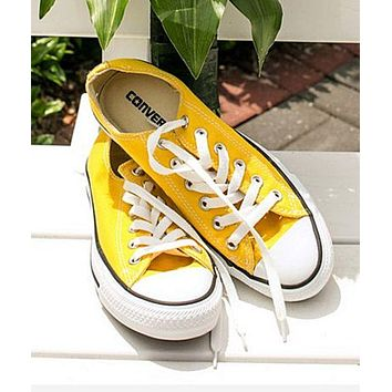 Converse All Star Adult Sneakers Low-Top Leisure shoes Yellow