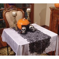 Lace Spider Web Table Runner Halloween Decoration - Walmart.com
