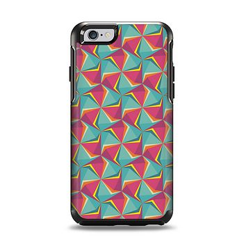 The Abstract Opened Green & Pink Cubes Apple iPhone 6 Otterbox Symmetry Case Skin Set