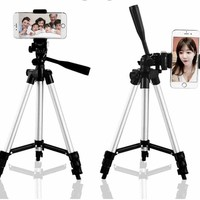 Phone Tripod Universal Tripod 4 Sections Lightweight Portable Tripod For iPhone Samsung Cell Phone Compact Camera Free Shipping