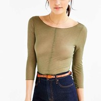 Out From Under 3/4 Sleeve Boatneck Top