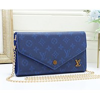 Louis Vuitton LV New Fashion Monogram Print Shopping Leisure Leather Chain Shoulder Bag Women